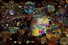 Galaxy of Fireworks Collage Planets 2859b