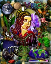 Virgo Zodiac Art With Elements