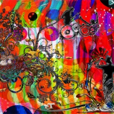 New Art Release Titled; Open microphone Non Stop Music, By; Blake Henry Robson Abstract Music & Nature Modern Art.
