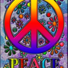 New Art Release Titled; Retro Peace Sign & Flowers. By; Blake Henry Robson