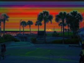 Daytona Beach Pier From Bandshell Gradient Design