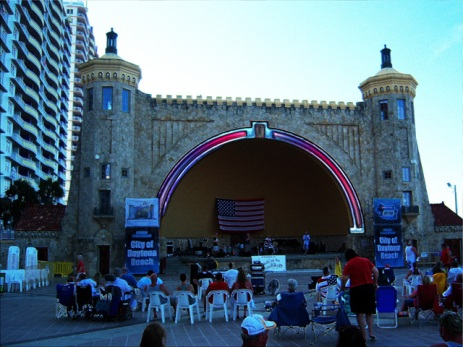 Daytona Beach Bandshell Patriotic Retrofit Digital Art