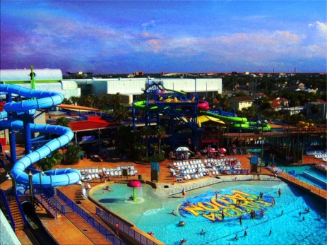 Summer Day At Water Park in Tropical Daytona Beach
