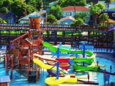 Daytona Lagoon Water Rides Tropical Digital Art