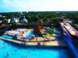 Over Daytona Lagoon Water Rides Tropical Landscape Art