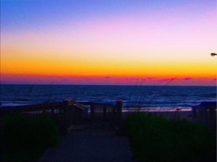 Coastal Tropical Landscape Dawn of a New Day
