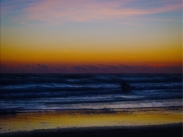 New Photo Art Titled: Mystic Morning Dawn At the Beach. Photo edit of early morning sunrise over the Atlantic Ocean in Daytona Beach Shores Florida
