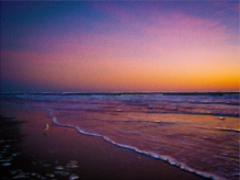 New Photo Art Titled: Dawn on Daytona Beach Atlantic Coast Modern Art. Modern digital art done from photo taken early in the morning, before the sun brakes the horizon