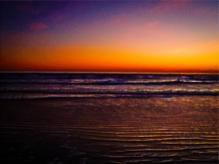 New Art Titled: Ripples in the Sand Sunrise on the Beach Photo Art II. Digital Photography Edit, of photo taken facing east directly out over the Atlantic Ocean from the Beach