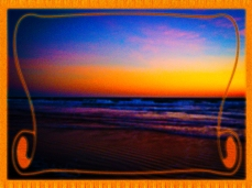 New Art Titled: Golden Dawn Overlooking Beach & Waves. Digital art edit from photo taken from the beach over the Atlantic Ocean before the sun actually brakes the horizon.