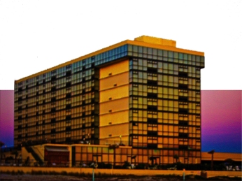 New Art Titled: Oceanside Resort from the Beach at Sunrise Photo Art. Oceanside Resort from the beach at sunrise photo art this mostly mirrored glass building, originally the Holiday Inn Oceanside reflects the rising sun beautifully.