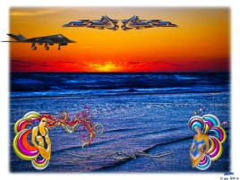 "New Art Titled: Tequila Sunrise Over Atlantic Big Beach Big Fun. Here in Daytona Beach we are know for are ""Big Beach, Big Fun"" & ""Worlds Most Famous Beach"" mottos so I included a set of stylishly designed beautiful women. We are also know for the aero"