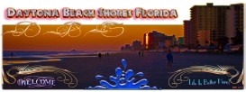 New Artwork Titled: Daytona Beach Shores Florida Life is Better Here Art. Panoramic photograph art edit of Daytona Beach Shores. Text art; Daytona Beach Shores Florida, Welcome, Life Is Better Here! and the initials D, B & S.