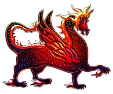 winged fire dragon